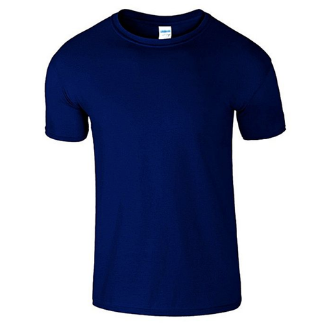 fd71a1bc93c Onshoponline Cotton Plain Round Neck T Shirt For Men Navy Blue ...