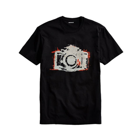The Ajmery - Men's The Camera Printed T-Shirt - Cm-98 - Black
