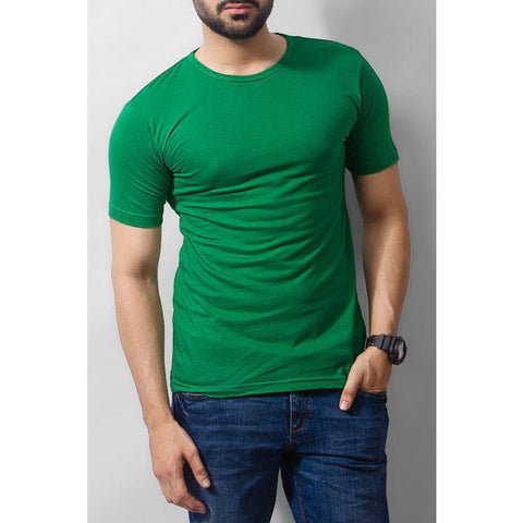The Ajmery - Cotton T-shirt - Green