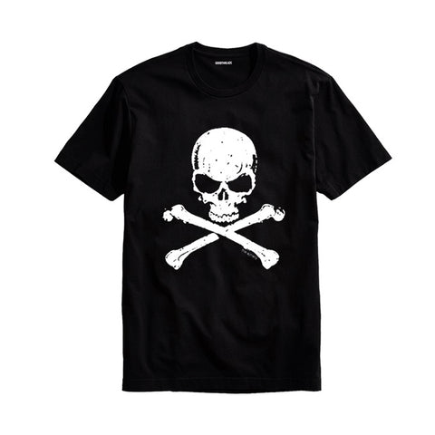 The Ajmery - Men's The Danger Skull Printed T-Shirt - Tds-57 - Black