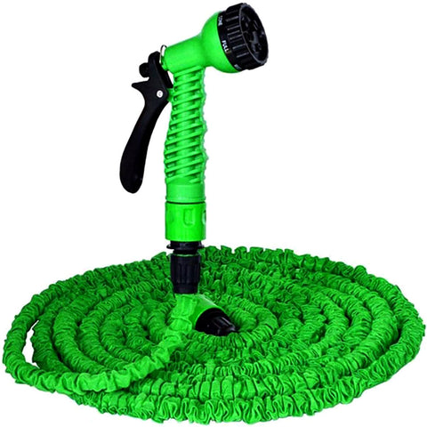Expandable Water Pipe with Spray Gun - 100ft - Green & Blue