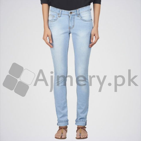 Ajmery Enterprise - Women's Slim Jeans - DTX-20 - Light Blue