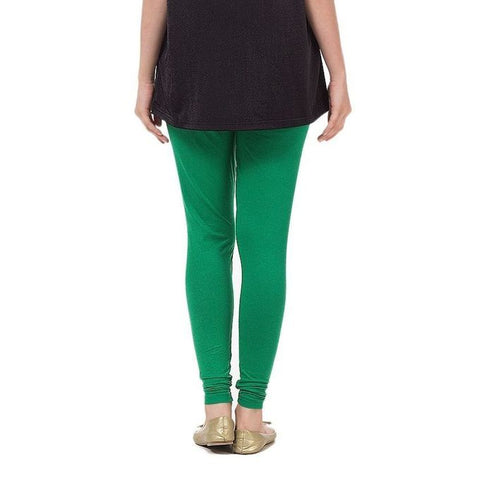 The Ajmery - Women's Cotton Jersey Tights - Green