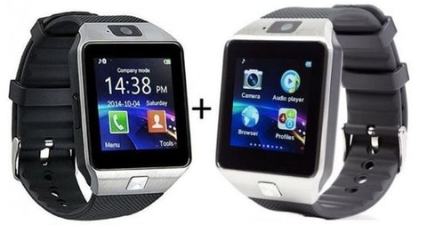 Apna Electronic - Pack of 2 - Smart Watch DZ09 - Black