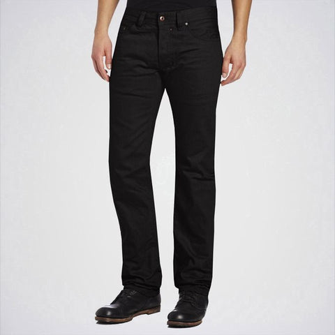 The Ajmery - Men's Regular Slim Straight Leg Jeans - Black