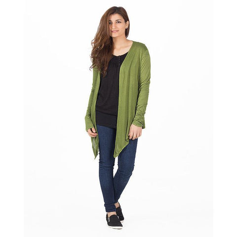 Ajmery Enterprise - Viscose Cocktail Shrug For Women - KTY-121 - Army Green