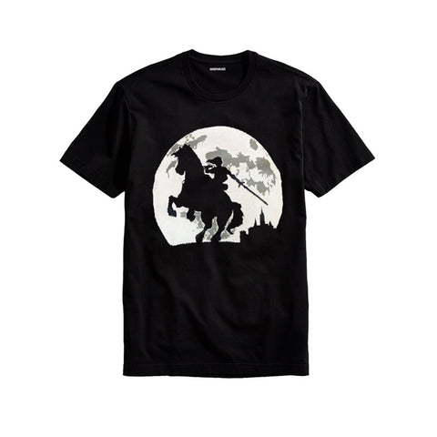 The Ajmery - Men's Castle Rider Printed T-shirt - Crrd-99 - Black