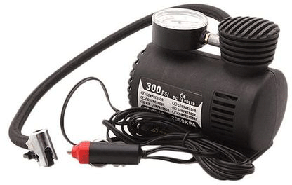 Apna Electronic - 12V Portable Air Compressor - Black
