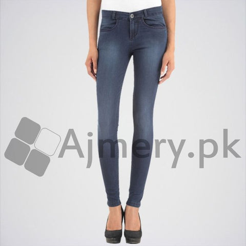 The Ajmery - Women's Solid Jeans - Blue