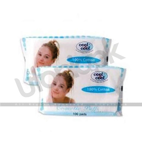 Cool & Cool - Cotton Cosmetic Puffs 1X100'S (Imported)