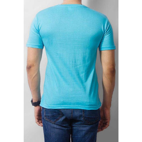 The Ajmery - Cotton Anchor Logo T-shirt - Turquoise