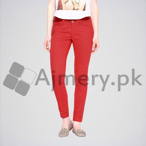 Ajmery Enterprise - Slim Fit Jeans - AJ-005 - Red