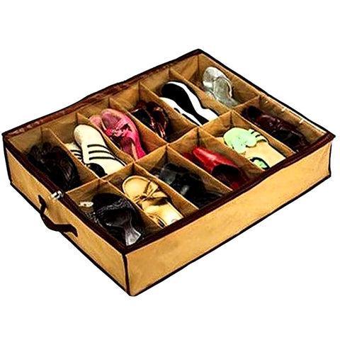 Easy Slide Shoes Organizer - Brown