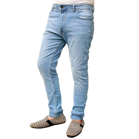 Denim Spirit Stretchable Skinny Jeans - DSSB0001 - Sky Blue