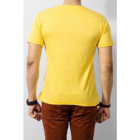 The Ajmery - Mustache Hat Wayfarer T-shirt - Yellow