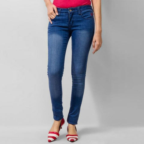 The Ajmery - Women's Slim Fit Jeans - Blue