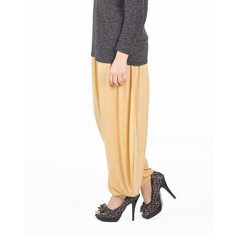 The Ajmery - Viscose Harem Pants for Women - Beige