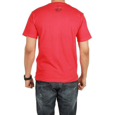 The Ajmery - Jersey Earphone Graphic T-Shirt - Red