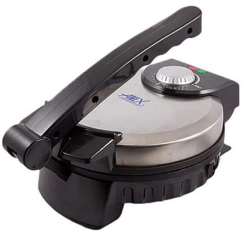 Anex - AG-3062 Deluxe Roti Maker 8\ - Black & Silver