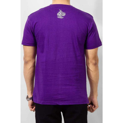 The Ajmery - Cotton Check Me Out Printed T-Shirt - Purple