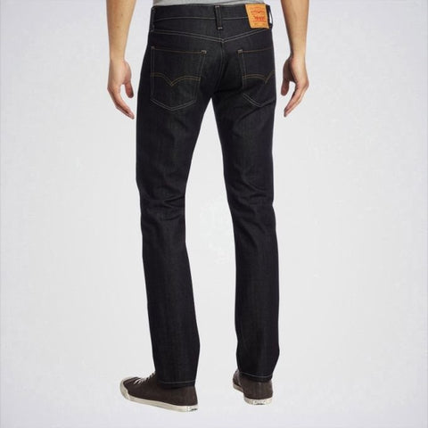 Ajmery Enterprise - Men's Shining Slim Fit Jeans - Aj-Sb03 - Black