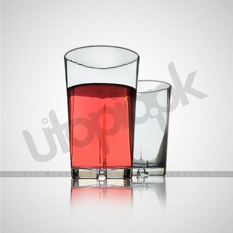 Drinking Glass (Tumblers) Pack of 6 - Plus - Transparent - 280ml