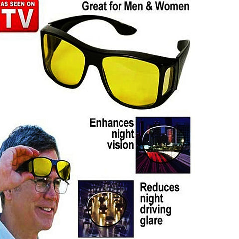 Pack of 2 - HD Night Vision & day Glasses - Yellow