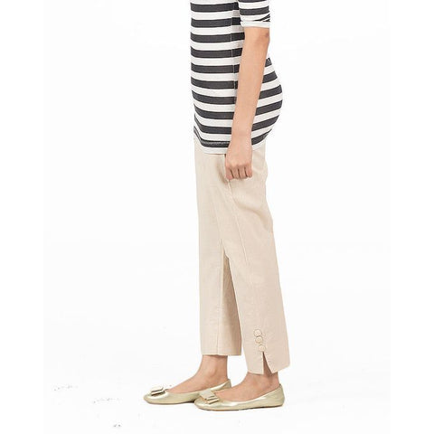 Ajmery Enterprise - Cotton Cigarette Pant For Women - KTY-101 - Beige