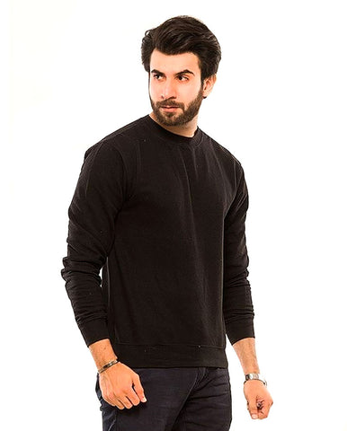 Ajmery Enterprises - Fleece Sweatshirt For Men - Pact-Sw3 - Black