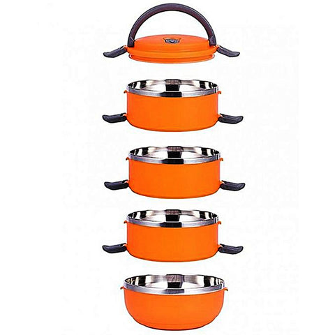 4 Tier Lunch Box - Lb 4 - Orange
