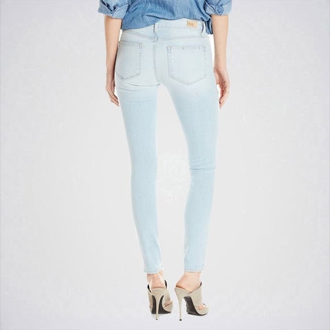 The Ajmery - Women's Ankle Skinny Jeans - Ice Blue