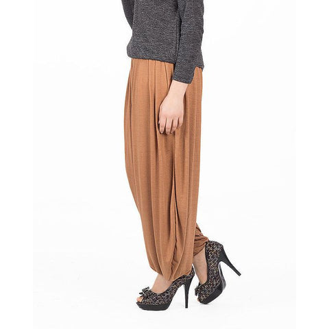 Ajmery Enterprise - Viscose Harem Pant For Women - KTY-114 - Brown