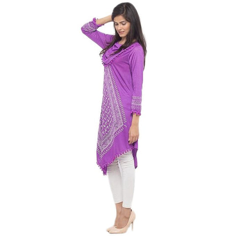 Ajmery Enterprise - Viscose Kurta For Women - Lilac