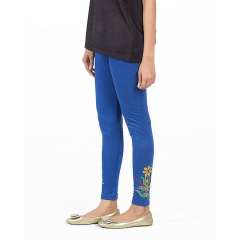 Ajmery Enterprise - Viscose Embroidered Tights For Women - KTY-122 - Royal Blue