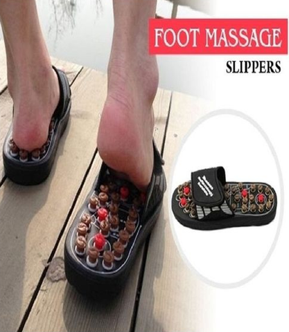 Apna Electronic - Reflexology Massage Slippers - Black