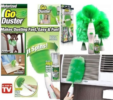 Apna Electronic - Motorized Electric Go Duster Wet and Dry Duster - Green