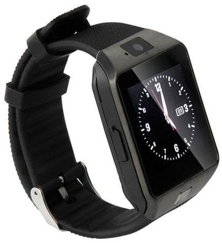 Apna Electronic - Android Smart Watch DZ09 with GSM Slot Bluetooth - Black