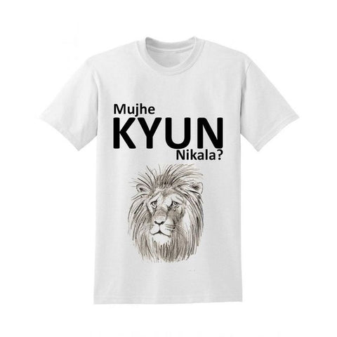 The Ajmery - Men's Kyun Nikala Printed T-Shirt - White
