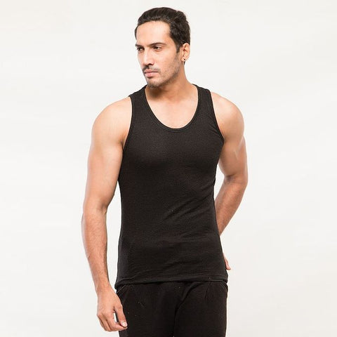 The Ajmery - Pack Of 5 Cotton Tank Tops For Men - Multicolor