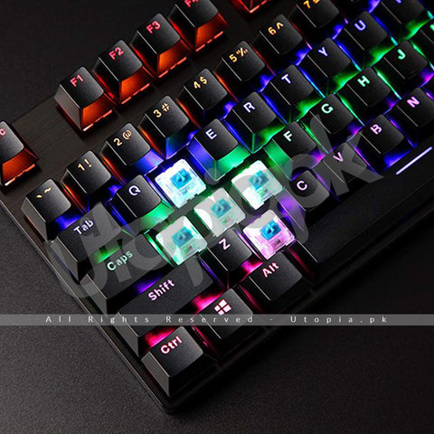 Rapoo - Mechanical Gaming Keyboard Telcado With USB Powered For Game - Multicolor