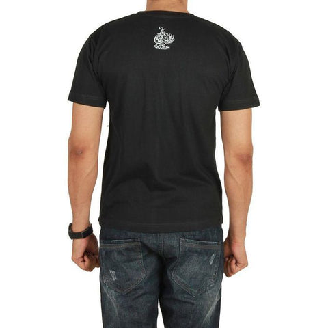 The Ajmery - Jersey Small Soul Of A Lion Logo Printed T-Shirt - Black