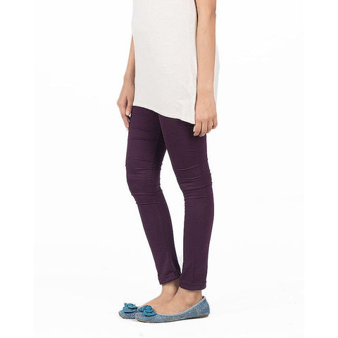 Ajmery Enterprise - Churidaar Tights For Women - KTY-124-PRP2 - Purple Viscose