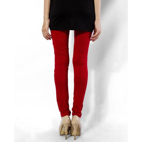 Ajmery Enterprise - Women's Cotton Churidaar Tights - Red