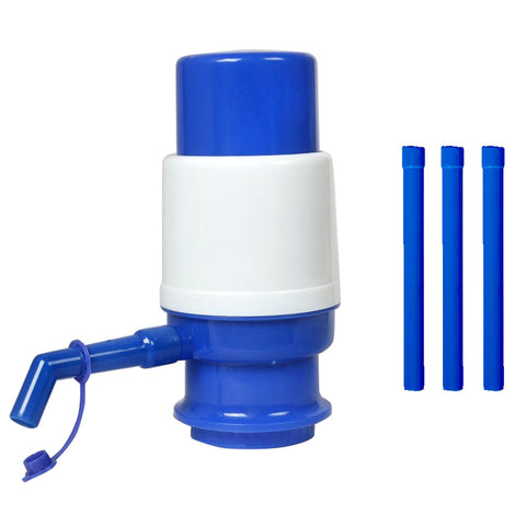 Manual Water Pump Dispenser For Water Cans - Blue