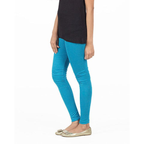 Ajmery Enterprise - Viscose Churidaar Tights For Women - KTY-124 - Turquoise