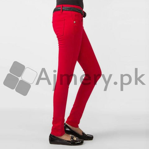 The Ajmery - Crimson Cotton Chinos - Red