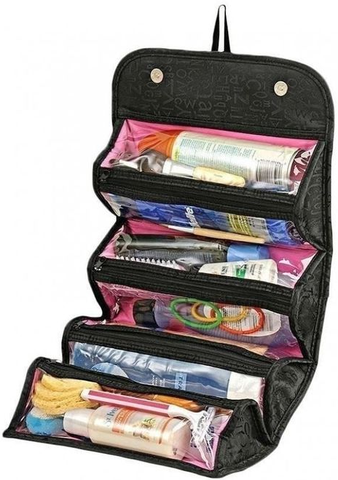 Apna Electronic - Roll-N-Go - Cosmetic Bag for Women - Black