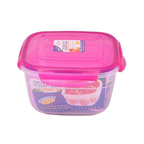 Food Storage Containers - 3 Pcs Set - Multicolor
