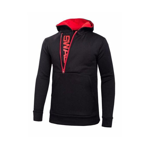 The Ajmery - Fleece Swag Hoodie For Men - Black