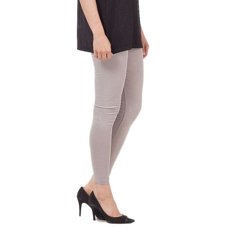 The Ajmery - Viscose Tights For Women - Light Grey